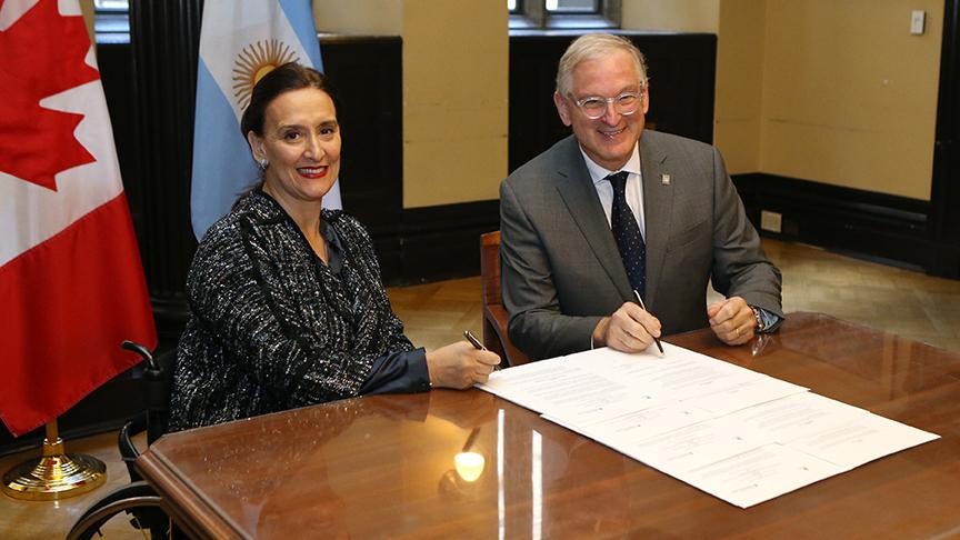 Signature du partenariat avec l'argentine