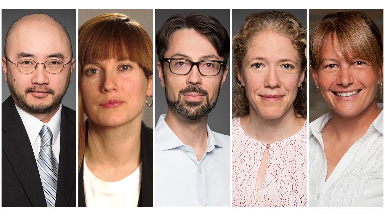 les professeurs Kin Chan, Constance Crompton, Damien D'Amours, Julie St-Pierre et Tracy Vaillancourt
