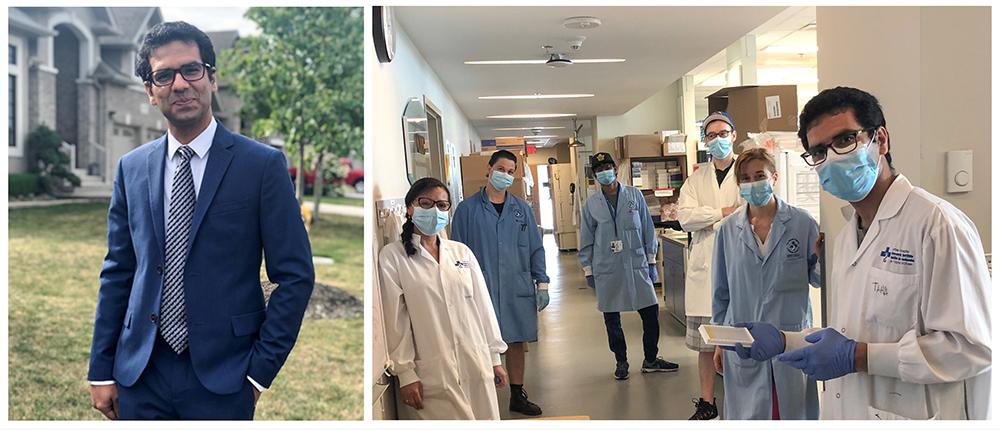 Taha Azad - OHRI lab team with masks