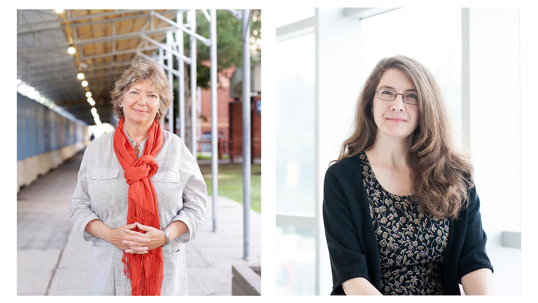 Un montage-photo des professeures Ivy Bourgeault (gauche) et Katherine Lippel (droite)