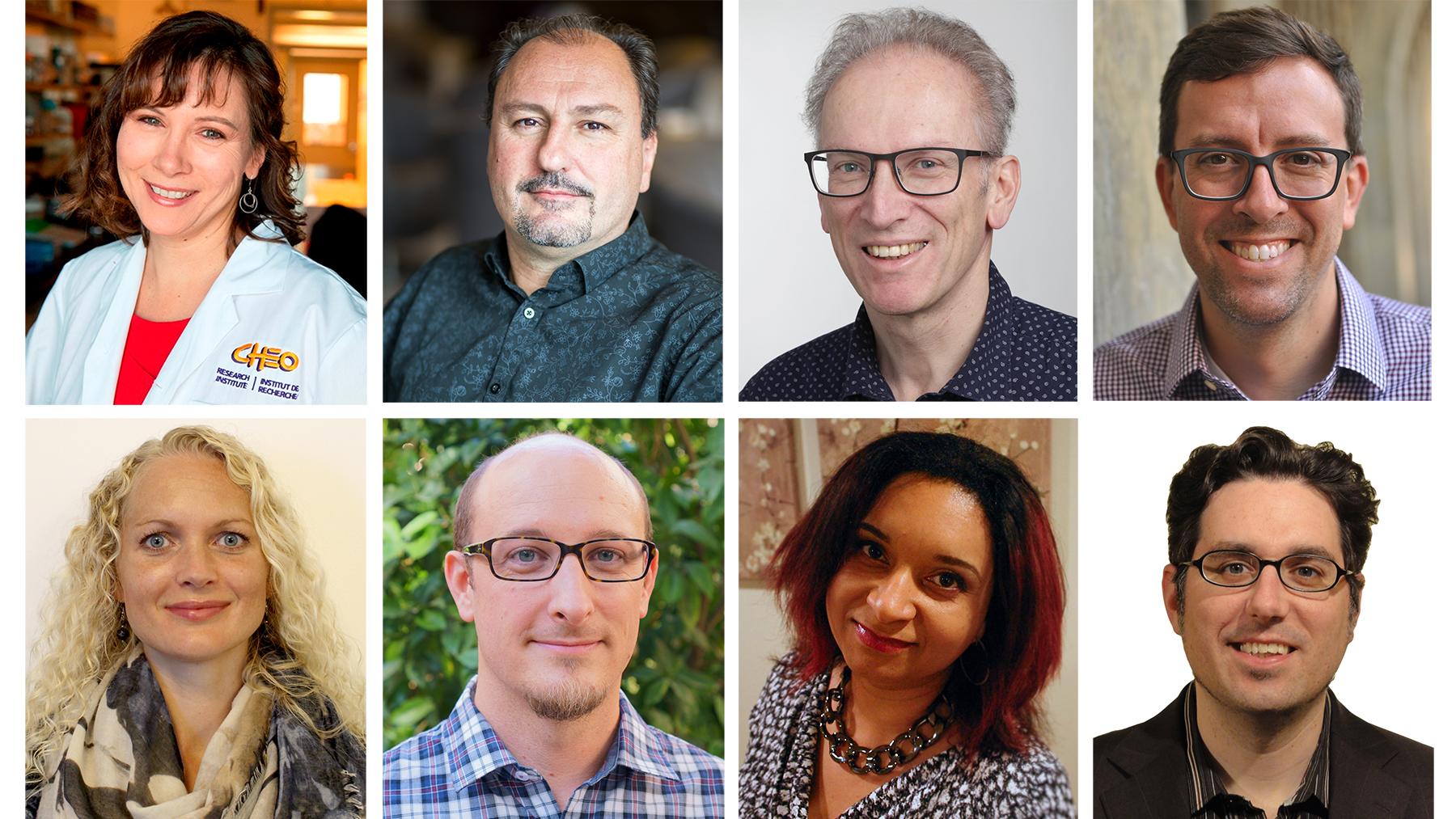 Huit professeurs : Kym Boycott, Lionel Briand, Hans Lochmüller, Jason Millar, Maria Musgaard, Brett Walker, Monnica Williams et Jeff Lundeen