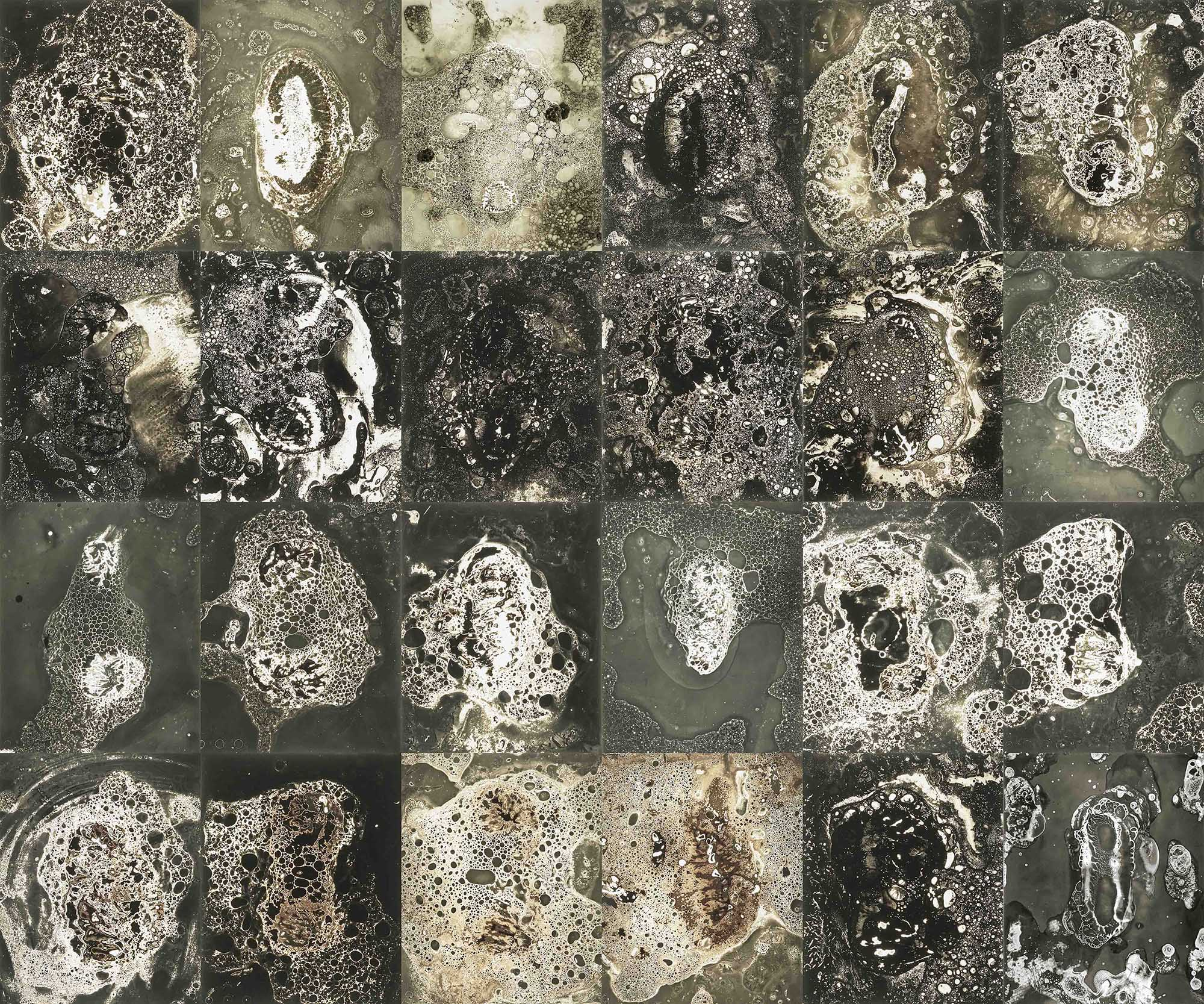Chimigramme composé de savon sur des pellicules photographiques