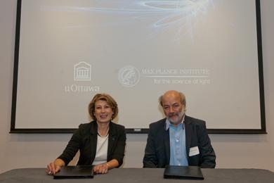 Membres de l'Université d'Ottawa et du Max Planck Institute for the Science of Light
